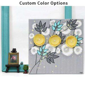 Small flower wall art in custom colors