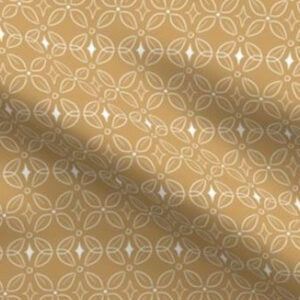 Art deco fabric butterfly design in yellow