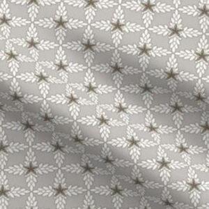 Art deco fabric small scale design in French gray