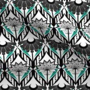 Gothic black and white ornate wallpaper