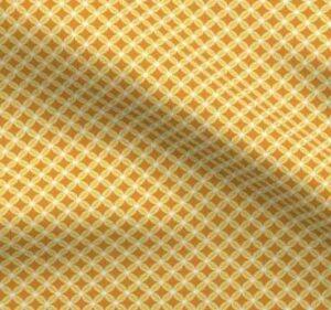 Orange butterfly pattern fabric