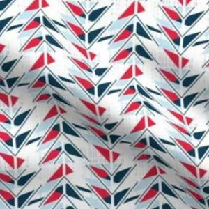 Patriotic fabric with red white and blue arrows