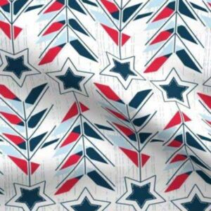 Patriotic fabric with red white and blue star arrows