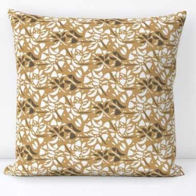 Pillow in art deco rose mosaic