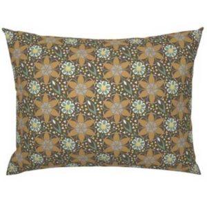 Fabric & Wallpaper: Art Deco Geometric Floral in Earth Tones