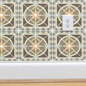 Fabric & Wallpaper: Art Deco Tile in Earth Tones