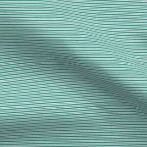 Teal and black stripe fabric