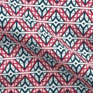 Red white and blue diamond fabric