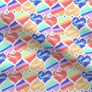 Fabric & Wallpaper: Valentine Rainbow Hearts