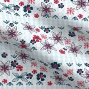 Patriotic gingham dress bodice fabric