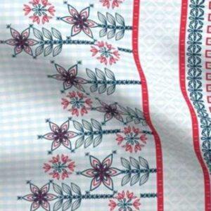 Patriotic gingham dress hem border fabric