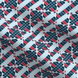 Patriotic cheater quilt squares in red, white, blue