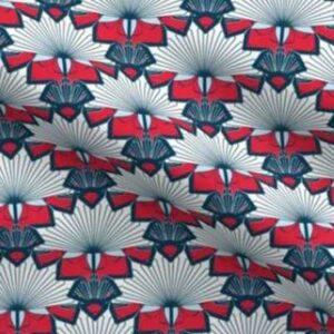 Patriotic sunbursts in red, white, blue