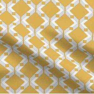 Lattice upholstery fabric in goldenrod yellow