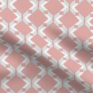 Lattice upholstery fabric in pink and white