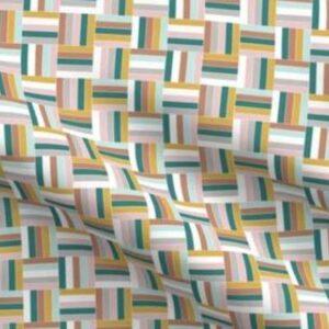 Easter basketweave fabric in jewel tones
