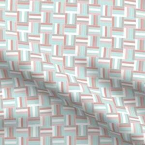Easter basketweave fabric in pastels