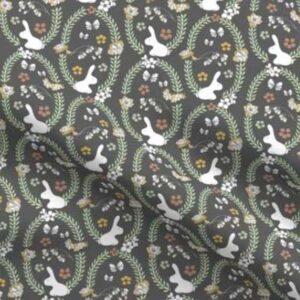 Fabric & Wallpaper: Woodland Rabbits, Earth Tones