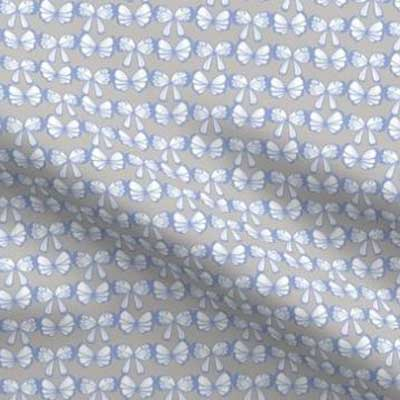 Easter butterfly fabric in periwinkle and gray