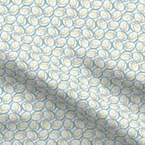 Fabric & Wallpaper: Chicks in Eggs, Teal