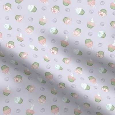 Easter cupcake novelty fabric in pastels