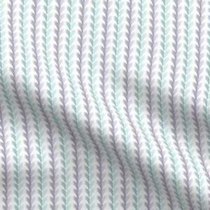 Fabric & Wallpaper: Egg Scallop, Teal, Purple