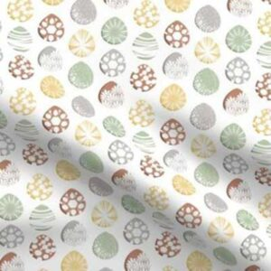 Fabric & Wallpaper: Painted Easter Eggs, Earth Tones