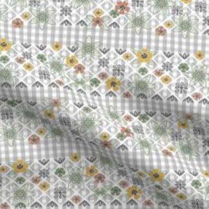 Fabric & Wallpaper: Easter Gingham, Earth Tones