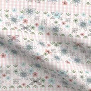 Fabric & Wallpaper: Easter Gingham, Pink