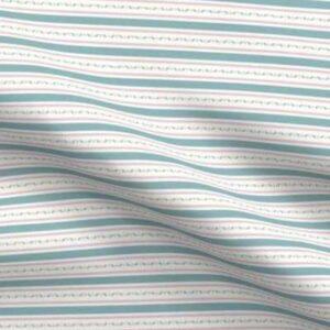 Fabric & Wallpaper: Horizontal Stripes, Teal, Pink