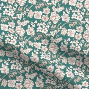 Fabric & Wallpaper: Farmhouse Floral, Teal