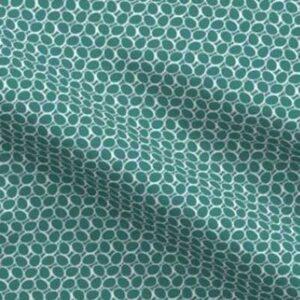 Fabric & Wallpaper: Minimal Eggs, Teal