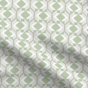 Woven fabric pattern in soft green