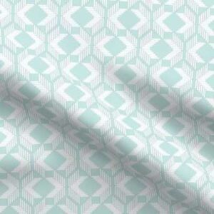 Woven fabric pattern in soft teal