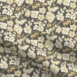 Fabric & Wallpaper: Farmhouse Floral, Gray, Yellow