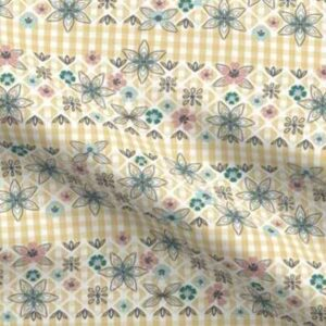 Fabric & Wallpaper: Easter Gingham, Yellow
