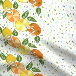 Fabric & Wallpaper: Citrus and Terrazzo Large Border