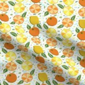Fabric & Wallpaper: Citrus and Terrazzo in Set Pattern