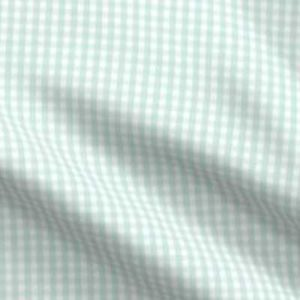 Fabric & Wallpaper: Soft Teal Gingham