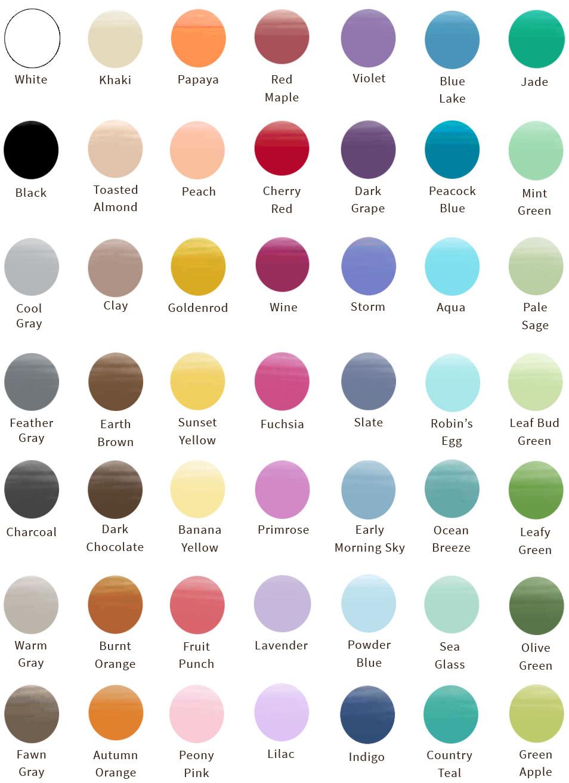 Amborela paint color chart