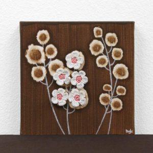 Wildflower Canvas Artwork in Brown – Mini
