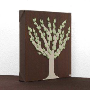 Texture Tree Artwork on Canvas in Summer, Autumn – Mini